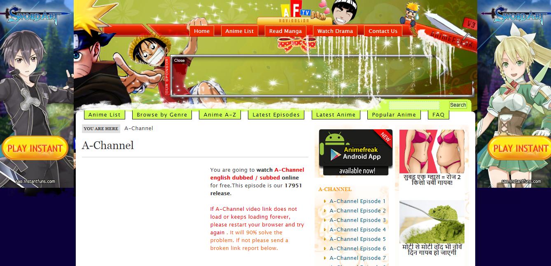 Animefreak TV for Free Anime Streaming