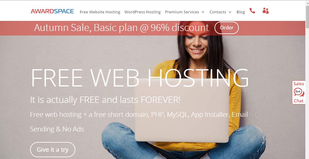 AwardSpace free WordPress Hosting