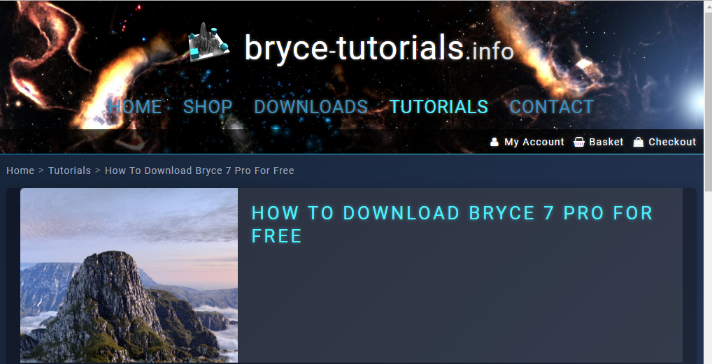 Bryce 7 Pro for Beginners Free Download