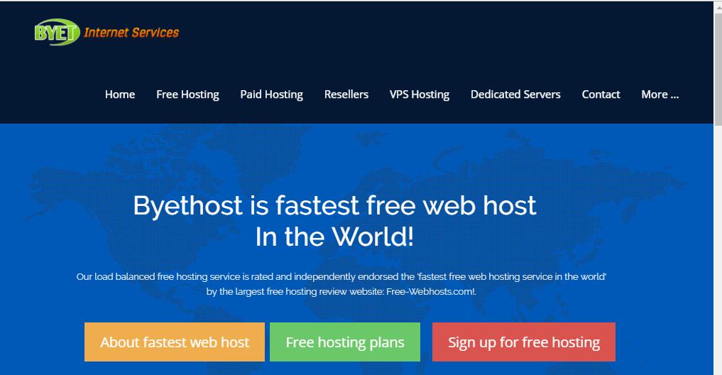 ByetHost Free WordPress Hosting