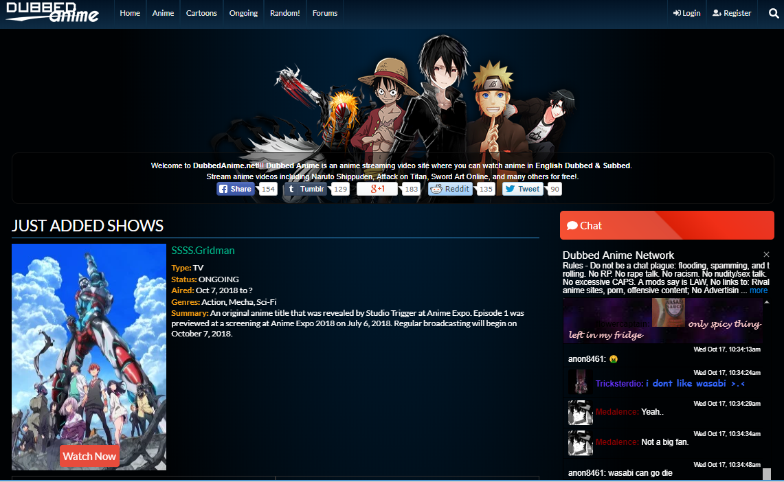 Dubbed Anime for Free Anime Streaming