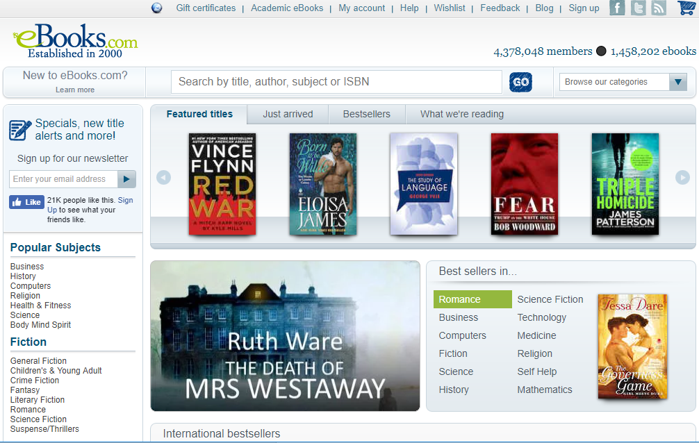 EBooks for free e-book downloading
