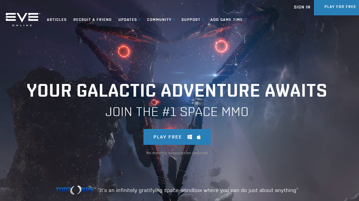 Eve Online MMO games