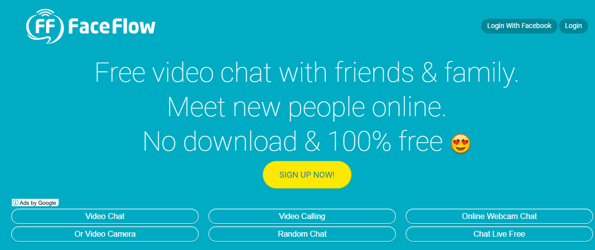 FaceFlow video chat rooms
