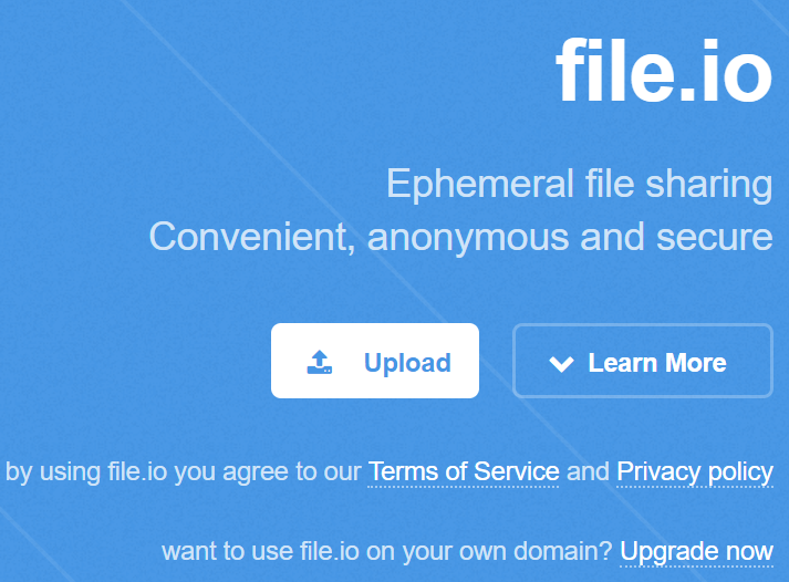 File.io Sharing Sites without Registration