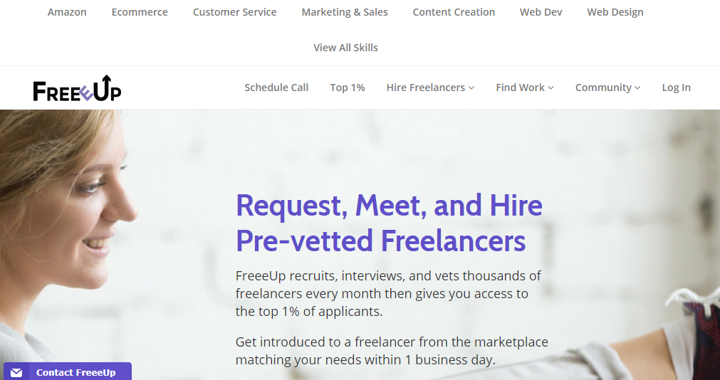 Freeup freelance websites for beginners