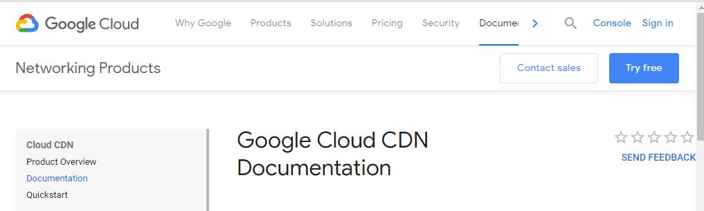 Google cloud CDN