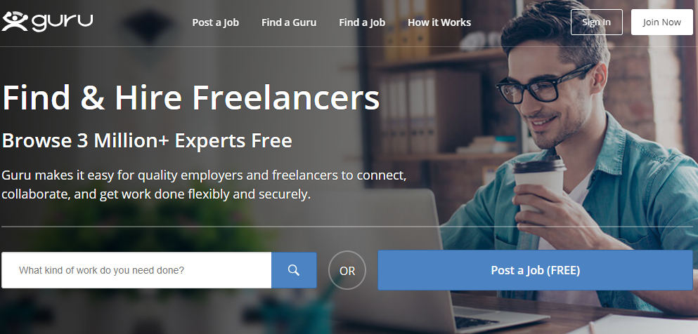 Guru Freelancer website for beginners