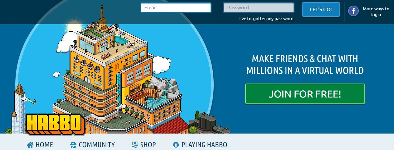 Habbo with avatars without download