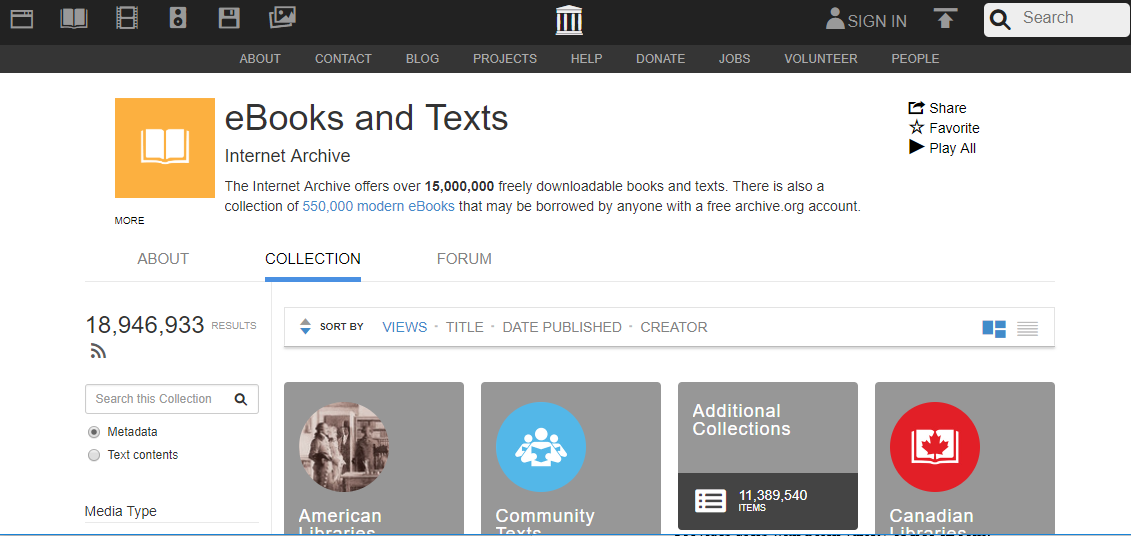Internet Archive for Free eBook