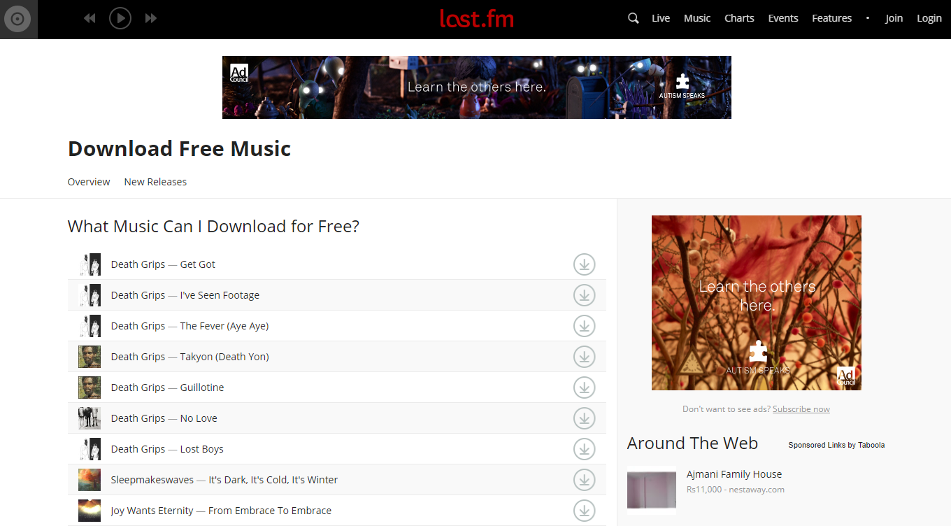 Last.fm To Download Music Albums