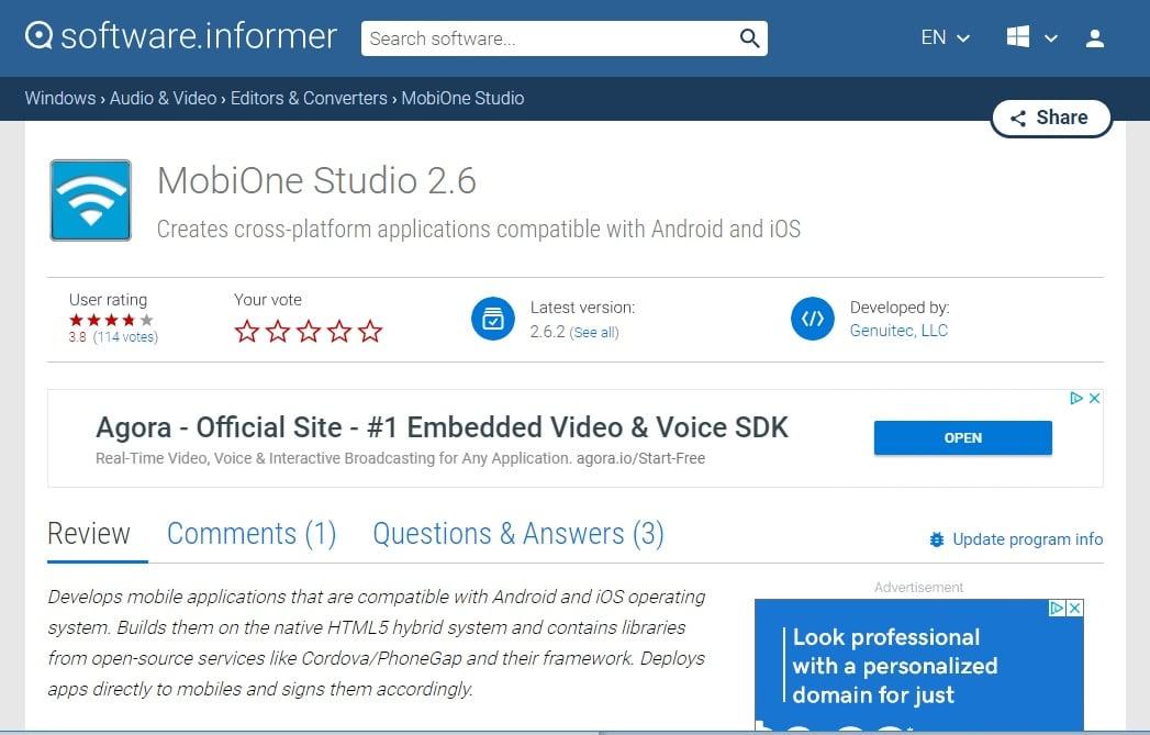 MobiOne Studios emulators