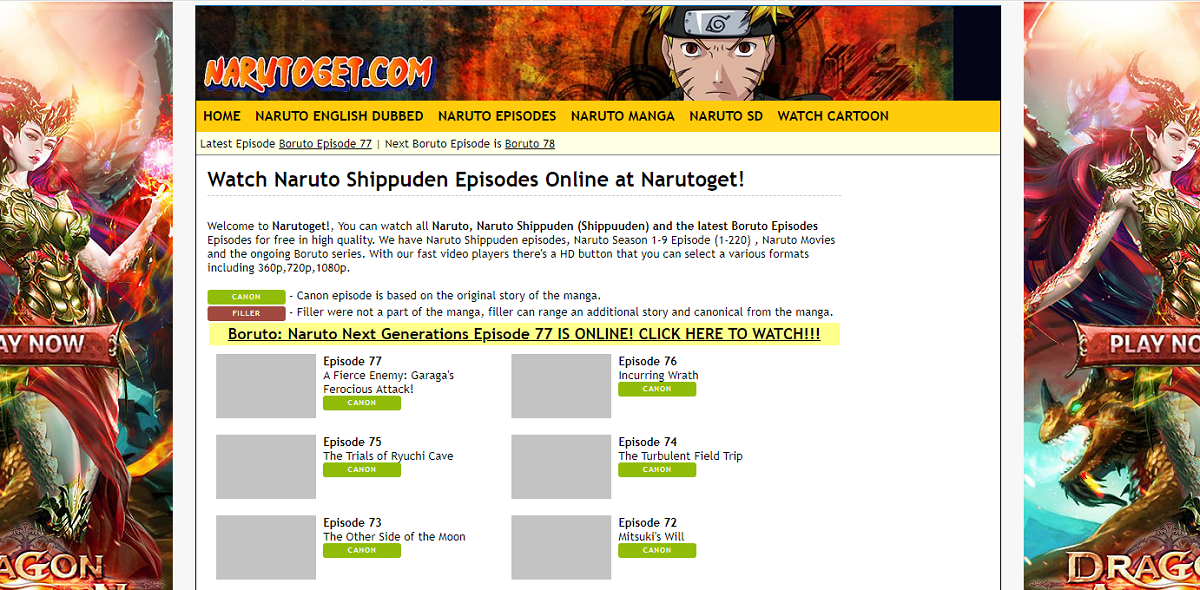 Narutoget for Free Anime Streaming