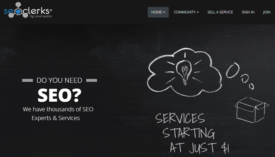 SEOClerks freelance websites for beginners