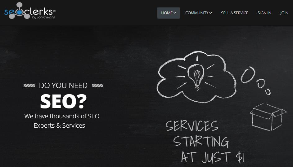 SEOClerks freelance websites for beginners