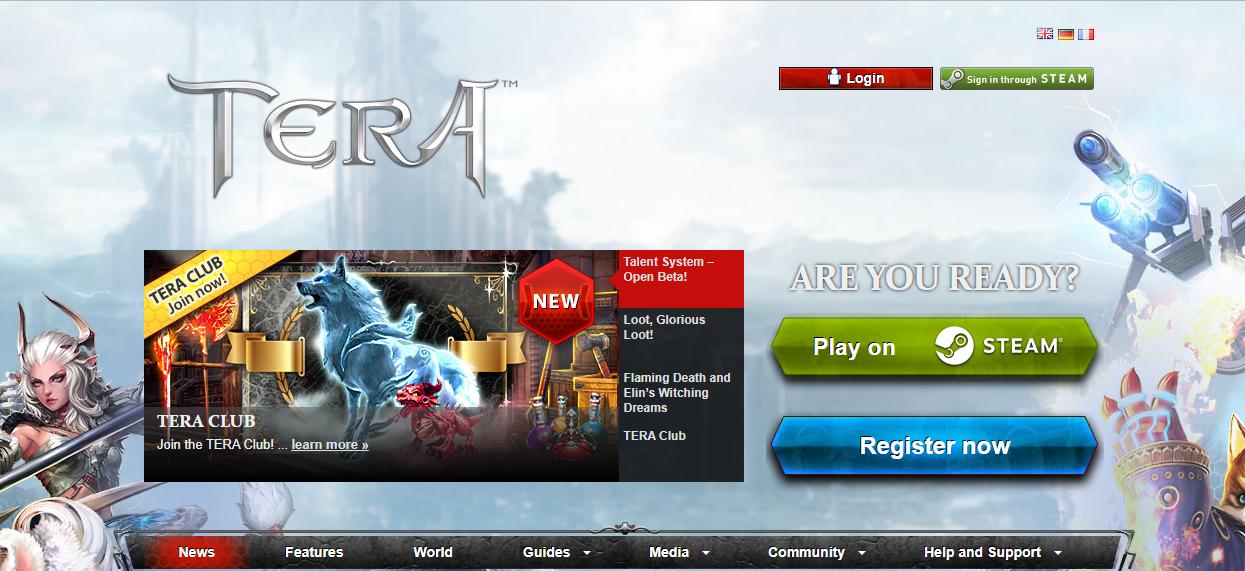 TERA free MMO games