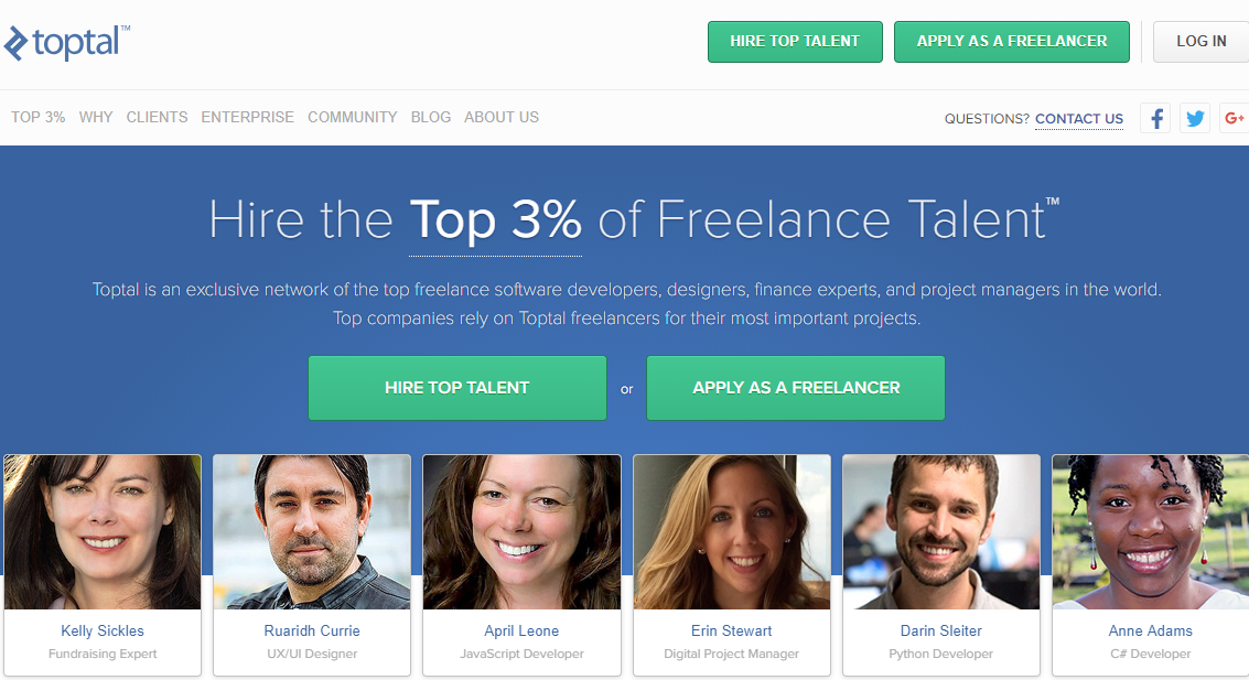 Toptal Freelancer website for beginners