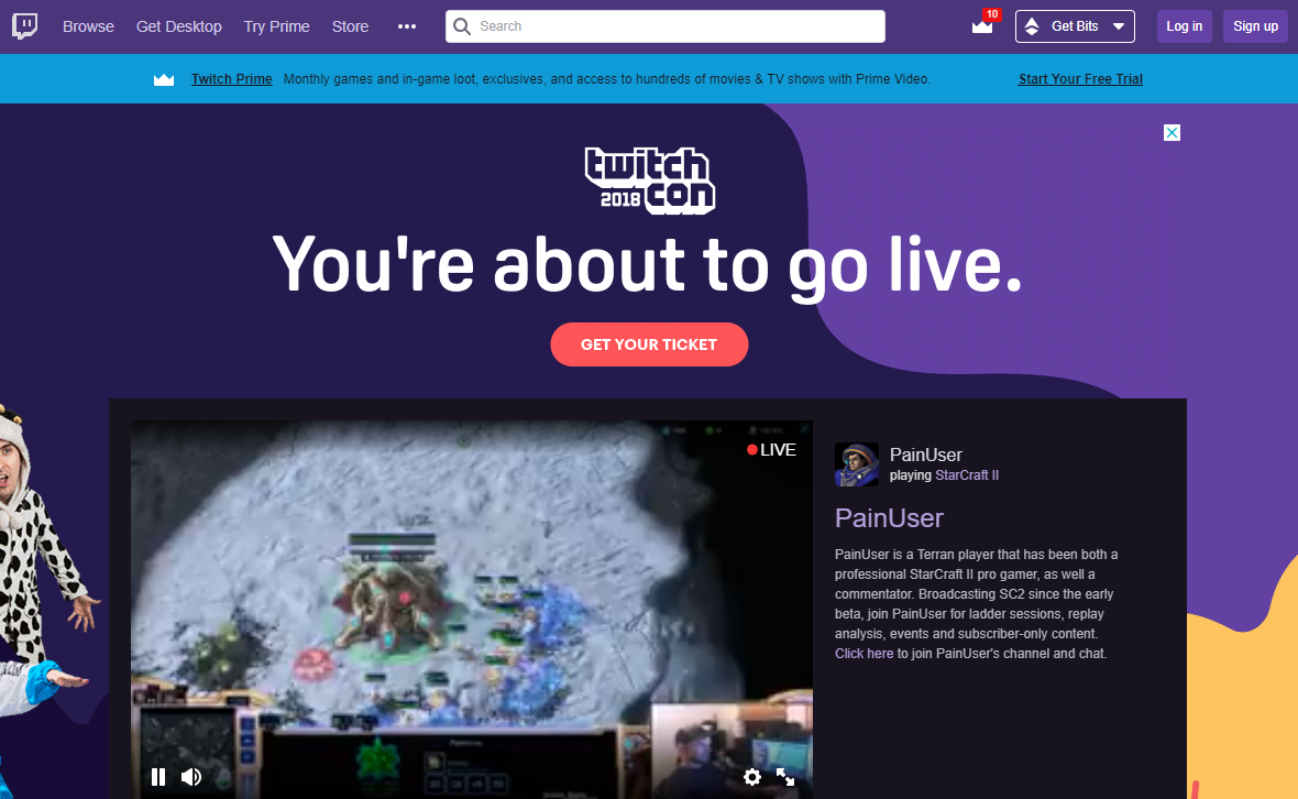 Twitch with no Restrictions