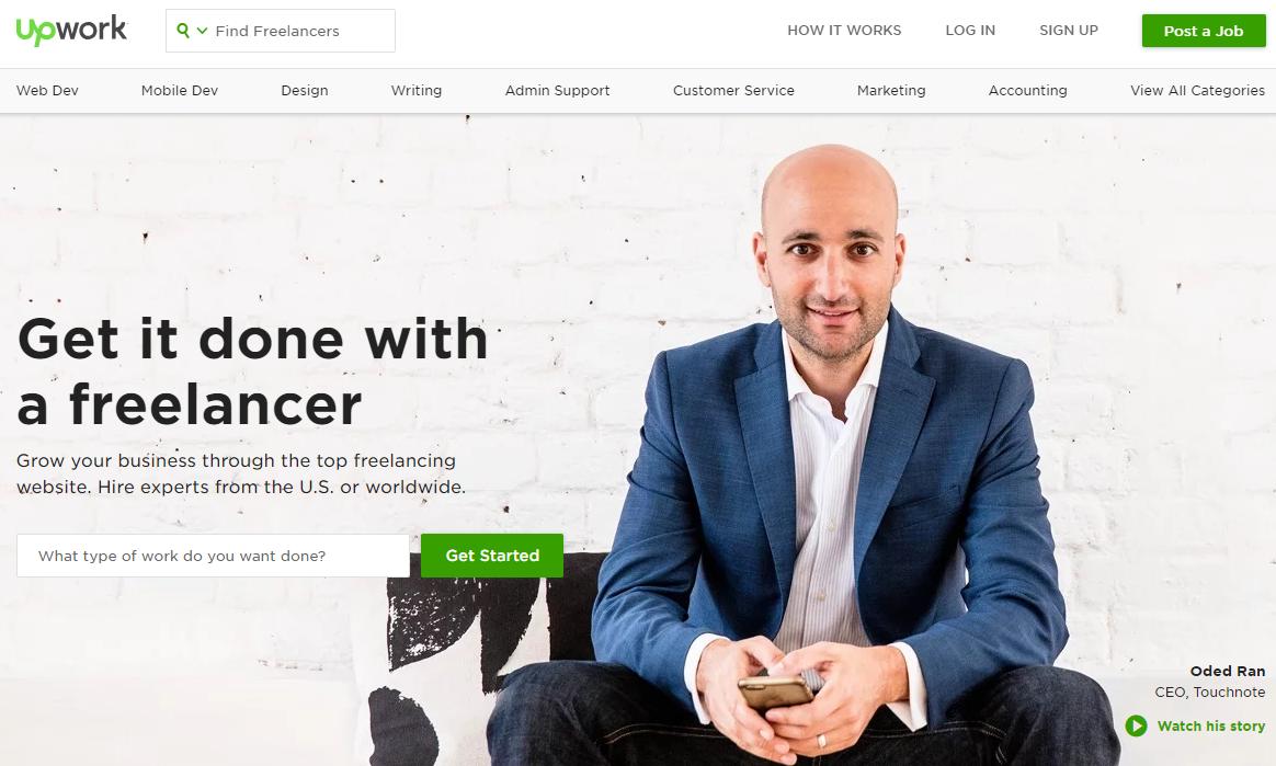 Upwork freelance website for beginners