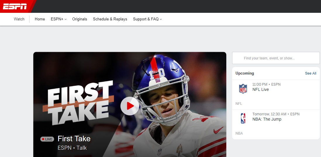 WatchESPN Free Sports Streaming Sites