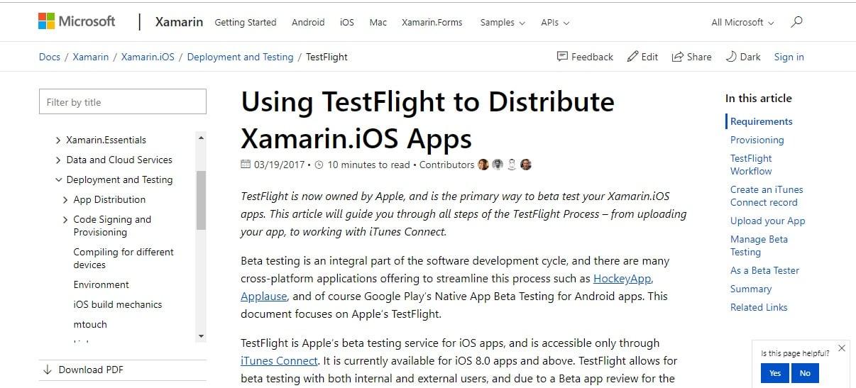 Xamarin TestFlight iPhone emulators