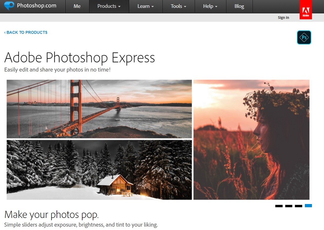 photoshop free online photo editors