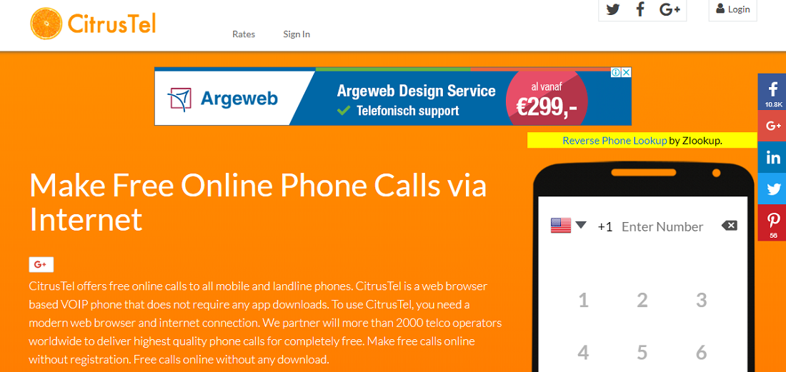 Citrustel for free online call