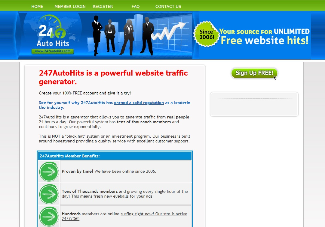 Receive Unlimited Hits to Your Site From AutoSurf 365 days