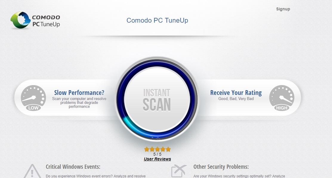 Comodo PC Tuneup