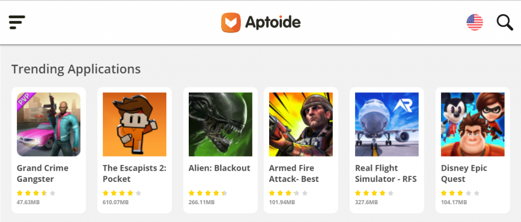 Aptoide App for games