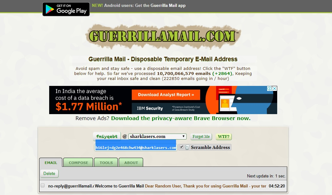 Guerilla Mail