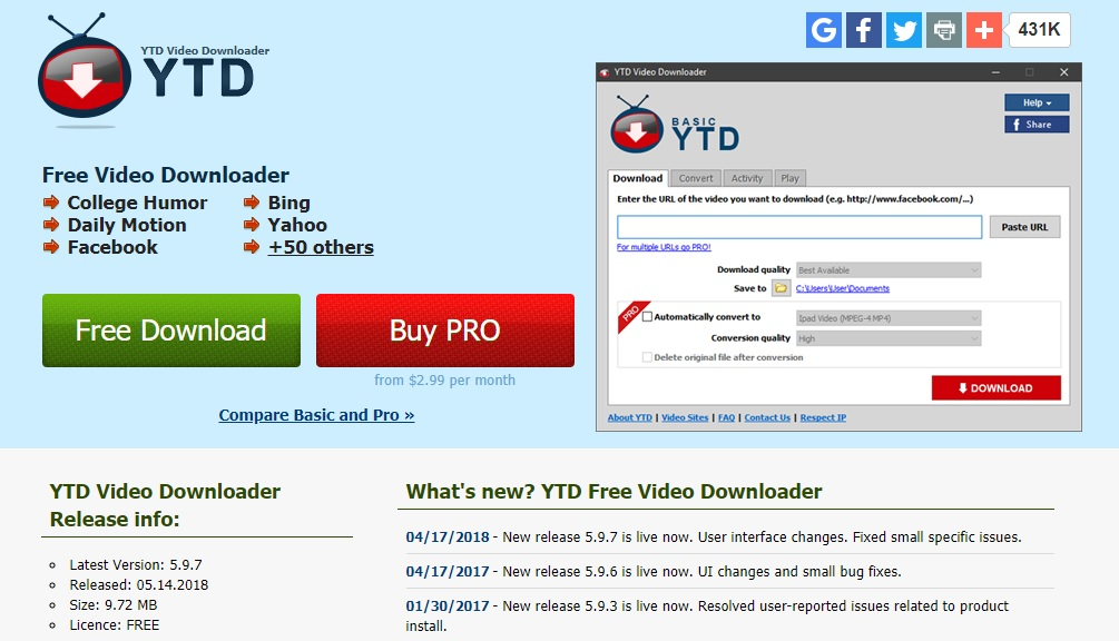 YTD (Youtube Downloader)