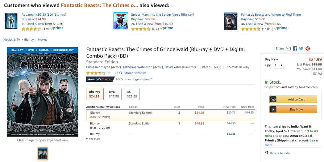 Top 10 Best Selling Amazon DVDS