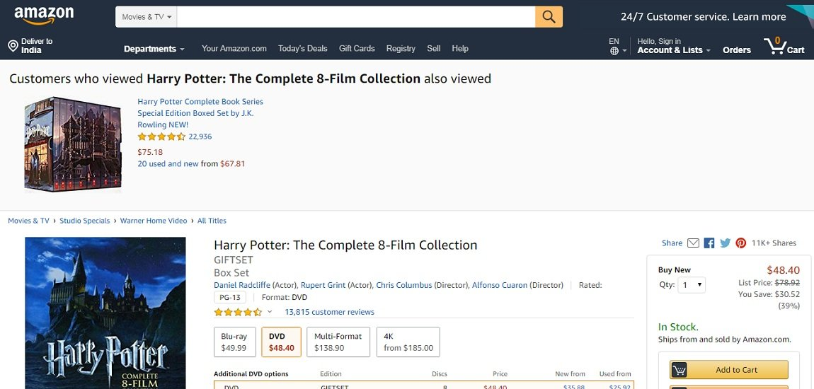 Harry Potter- The Complete Eight-Film Collection