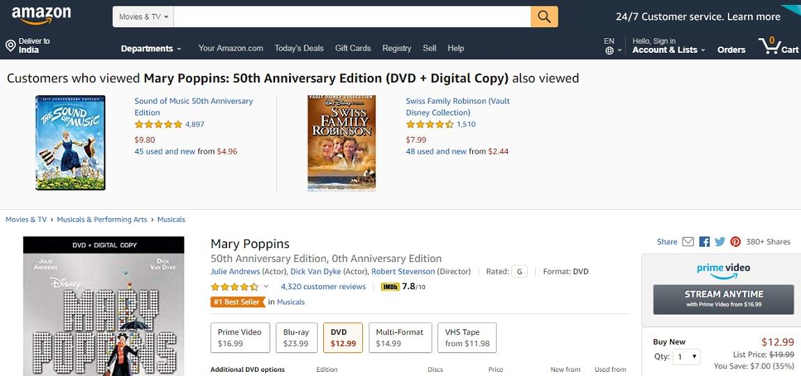 Mary Poppins- 50 Anniversary Edition