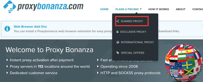 proxybonanza shared proxies