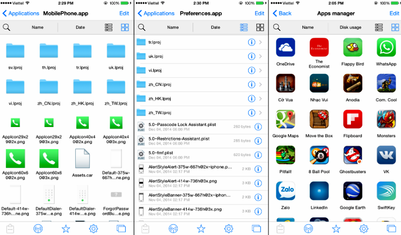 FILZA File Manager for iPhone