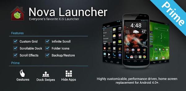 Nova Launcher Prime features