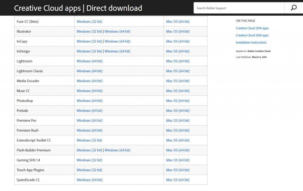Creative Cloud Apps