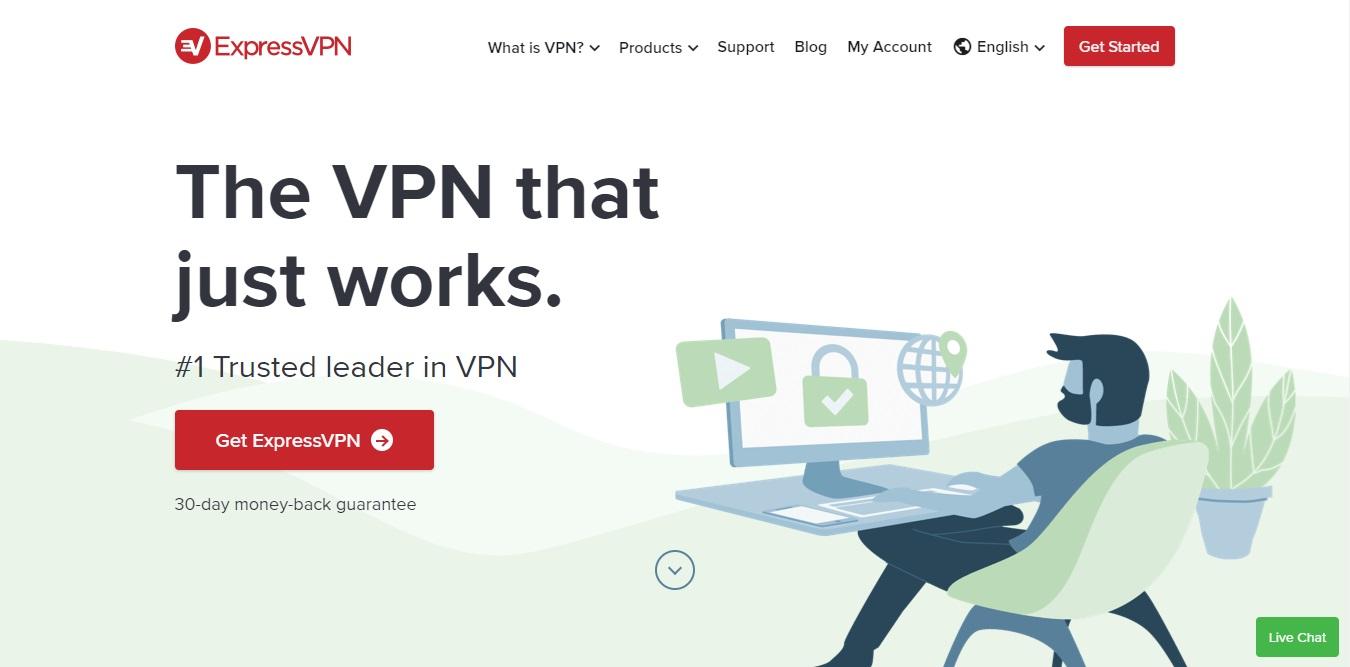 expressvpn homepage