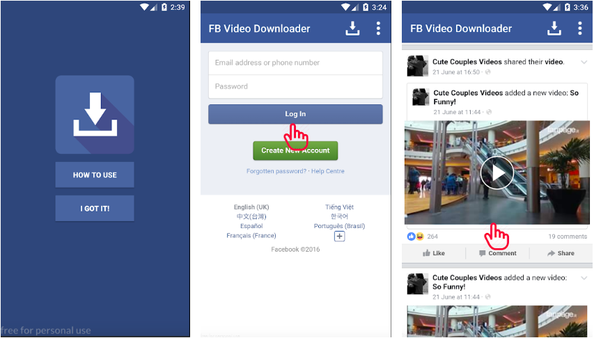 FB Video Download Free apk