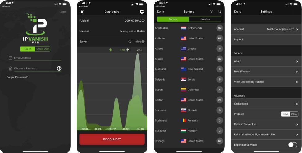 IPVanish VPN ios app