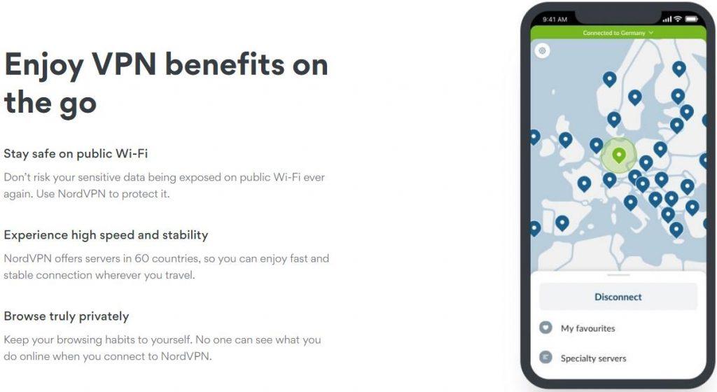 NordVPN IOS app