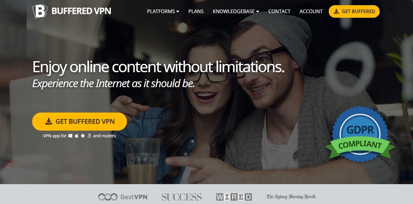 BufferedVPN homepage