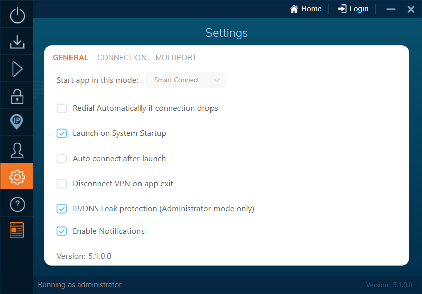 ivacyvpn client settings