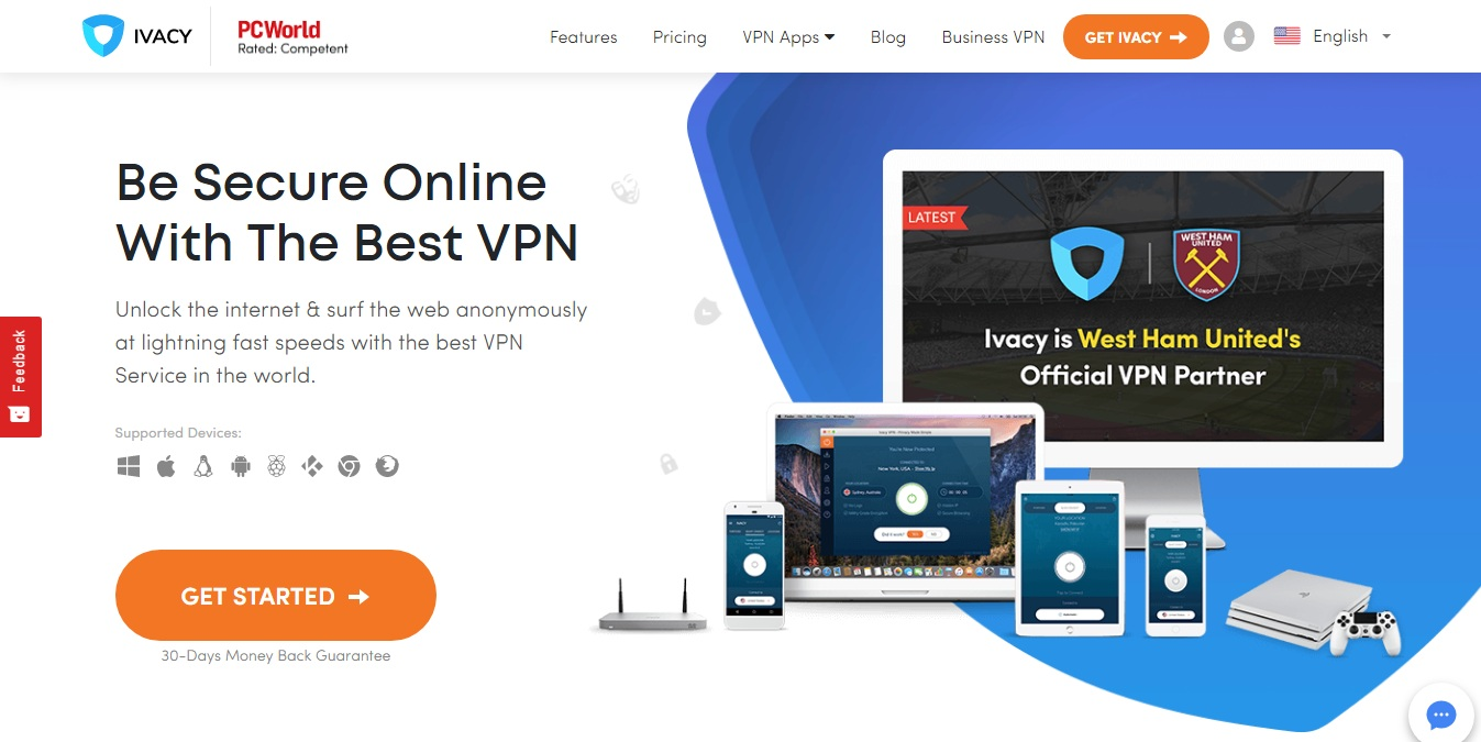 ivacy homepage