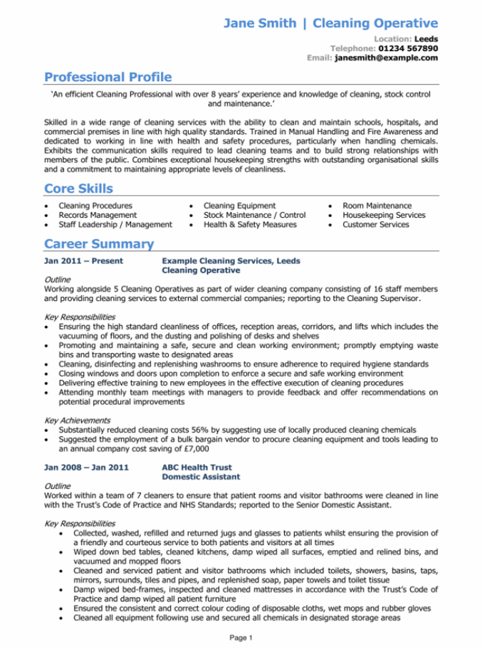 powerful CV page 1