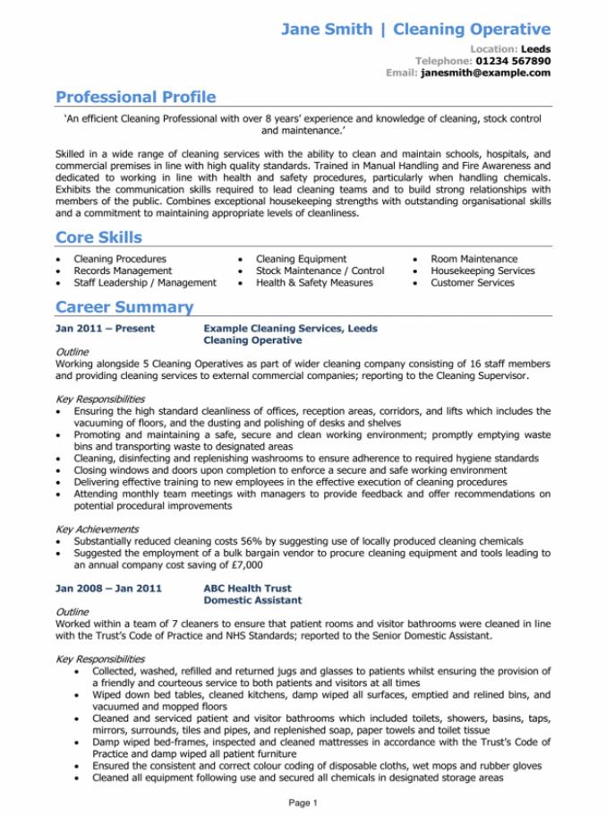 powerful CV page 1