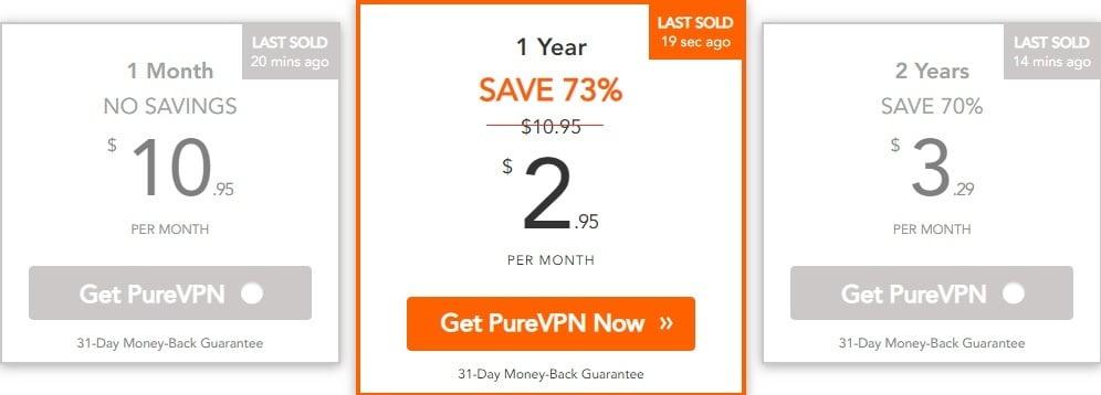 purevpn price plan