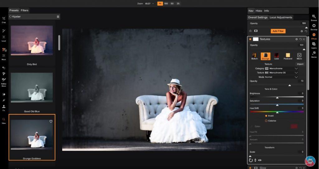 HDR image editing